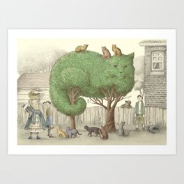 The Night Gardener - The Cat Tree Art Print