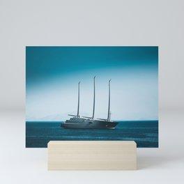 Blue horizon Mini Art Print