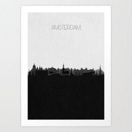 City Skylines: Amsterdam Art Print