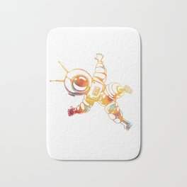 Orange Astronaut Cosmonaut Spaceman Funny Galaxy Space Bath Mat