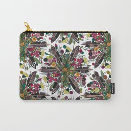 bohemian posy white Carry-All Pouch