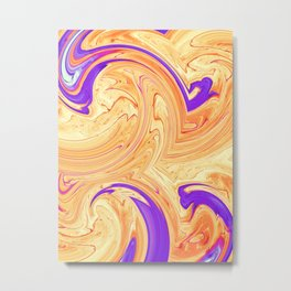 orange and purple wave pattern Metal Print