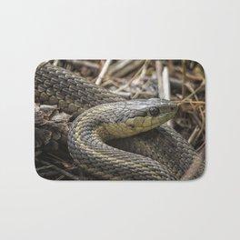 Garter Snake Portrait Bath Mat
