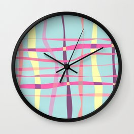 Pop-Stripes #society6 #decor #buyArt Wall Clock