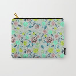 Watercolor Flowers II Carry-All Pouch