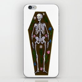 Skeleton Coffin iPhone Skin