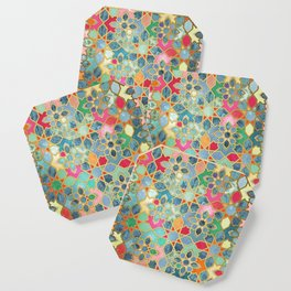 Gilt & Glory - Colorful Moroccan Mosaic Coaster