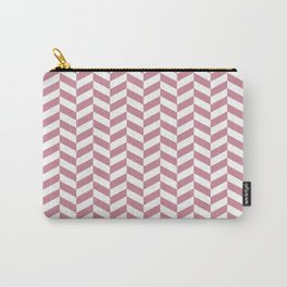 Puce Pink Herringbone Pattern Design Carry-All Pouch