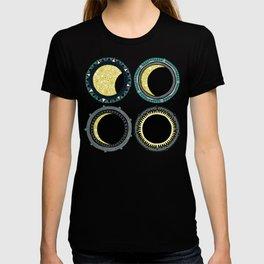 solar eclipse mandala pink T-shirt