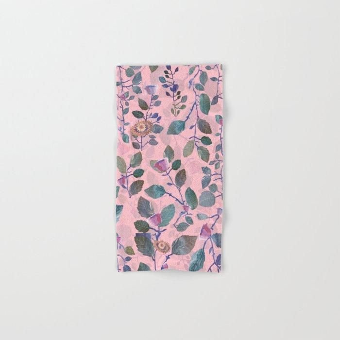 pink garden#pink Hand & Bath Towel