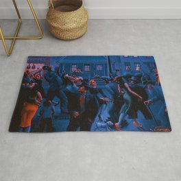African-American Classical Masterpiece Gettin' Religion by Archibald Motley Rug
