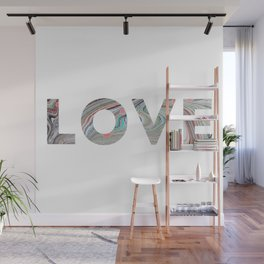 Marbled LOVE Wall Mural