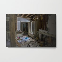 Abandoned Living Room Metal Print
