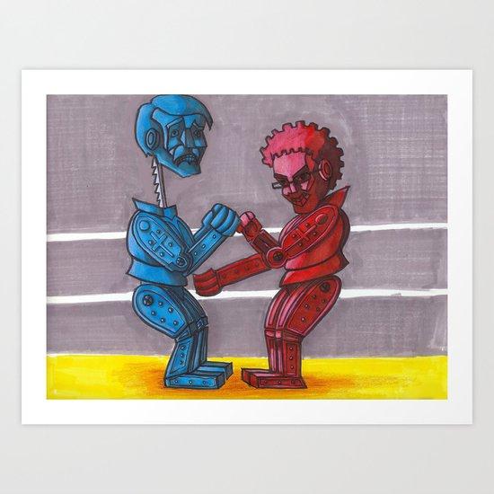 Rock'em Sac'em Art Print