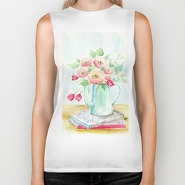 Tulips and French Enamelware Biker Tank