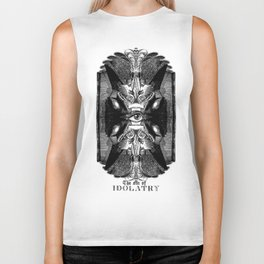 The sin of idolatry Biker Tank