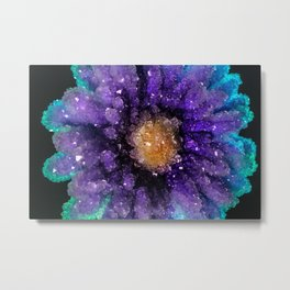 Crystalized Flowers Metal Print