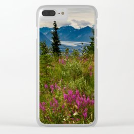 Alaskan Glacier & Fireweed Clear iPhone Case