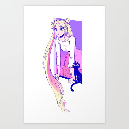 Sailor Moon Art Print Art Print