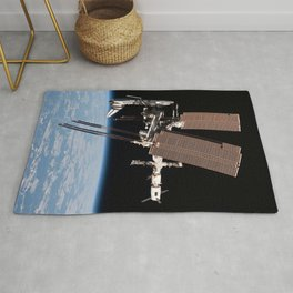 Endeavour docked to ISS Rug