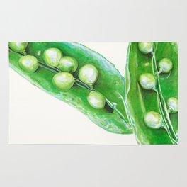 Watercolor Peas Rug