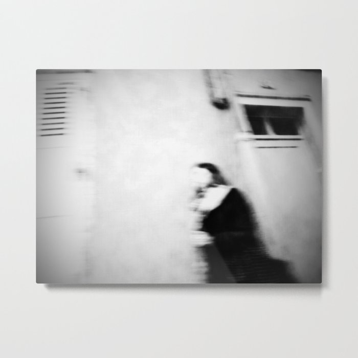 I follow you in the street, sometimes. Metal Print