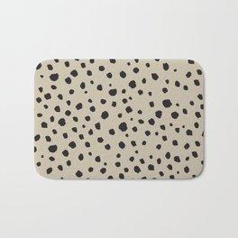 Spots Animal Print Beige Bath Mat