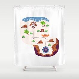 Overworld: Beach Shower Curtain
