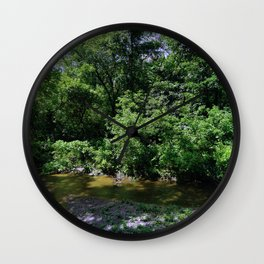 Shadows On Stream Wall Clock