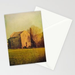A cute small stone house without windows Stationery Cards