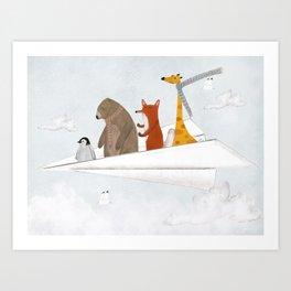plane sailing Art Print