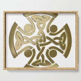 Celtic golden knot Serving Tray