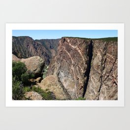 Painted Black Canyon of the Gunnison Walls Art Print