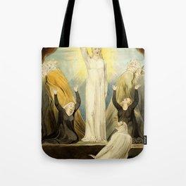 """William Blake """"The Raising of Lazarus"""" Tote Bag"""