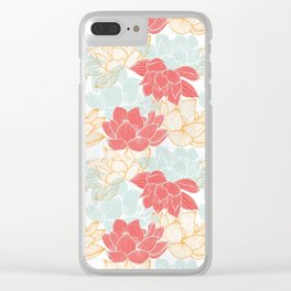 Lotus Carousal Clear iPhone Case