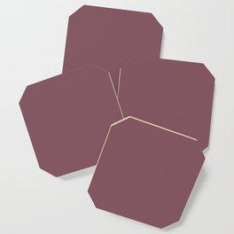 Solid Dull Purple Color Coaster