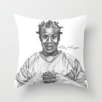 oitnb Throw Pillows featuring Crazy Eyes from OITNB by nilelivingston
