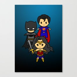 Justice League Unites ! Canvas Print