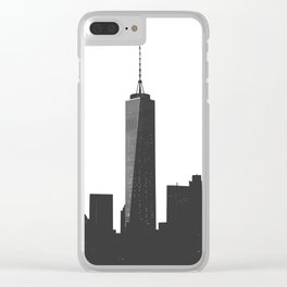 One World Trade Center-New York City Skyline Clear iPhone Case