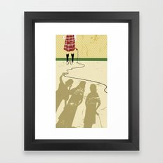 Bullied girl Framed Art Print