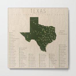 Texas Parks Metal Print