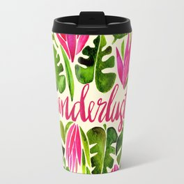 Tropical Wanderlust – Pink & Lime Travel Mug