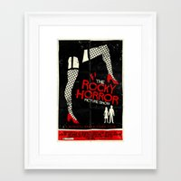 rocky horror picture show Framed Art Prints featuring Rocky Horror Picture Show  by Mark Welser