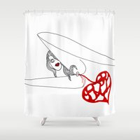princess Shower Curtains featuring PRINCESS by Vanja Cankovic
