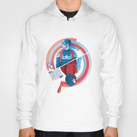 winter soldier Hoodies featuring The Winter Soldier by Florey