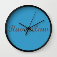 ravenclaw Wall Clocks featuring One word - Ravenclaw by husavendaczek