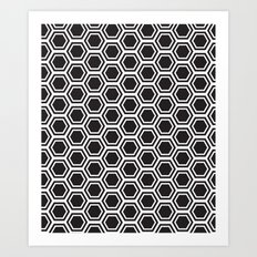 hexagon pattern Art Print