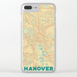 Hanover Map Retro Clear iPhone Case