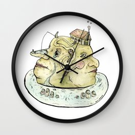 The Two-Faced Rock Wall Clock