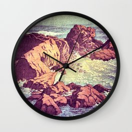 Stopping by the Shore at Uke Wall Clock